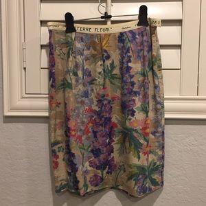 Anthropologie Floral Print Skirt